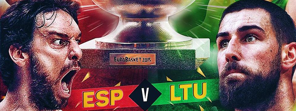 EuroBasket Finale: Spanien vs Litauen